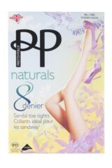 Ladies 1 Pair Pretty Polly Naturals 8 Denier Sandal Toe Tights Packaging Image