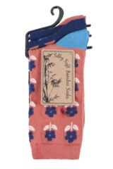 Ladies 3 Pair SockShop Bamboo Feather Socks Packaging Image