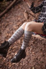 Ladies 2 Pair SOCKSHOP Patterned, Striped and Plain Bamboo Knee High Socks Leading Image
