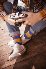Mens 5 Pair SockShop Striped Bamboo Socks Leading Image