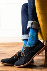 Mens 2 Pair SockShop Striped and Patterned Bamboo Socks Leading Image