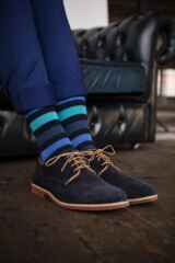Mens 1 Pair SockShop Colour Burst Tonal Stripe Socks Leading Image