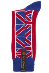Mens 1 Pair SockShop Union Jack Design Cotton Rich Socks Packaging Image