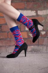 Ladies 1 Pair SockShop Union Jack Ankle Socks Leading Image