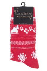 SockShop 1 Pair Christmas Sleigh Ride Socks Packaging Image