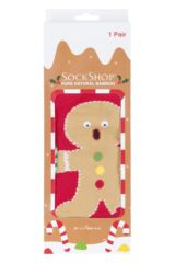 Mens and Ladies SOCKSHOP 1 Pair Lazy Panda Bamboo Gingerbread Man Christmas Gift Boxed Socks Packaging Image