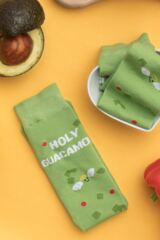 Mens and Ladies SockShop 1 Pair Lazy Panda Bamboo Holy Guacamole Gift Boxed Socks Leading Image