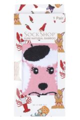 Ladies SockShop 1 Pair Lazy Panda Bamboo French Poodle Gift Boxed Socks Packaging Image