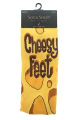 Mens 1 Pair SockShop Bamboo Cheesy Feet Socks Packaging Image