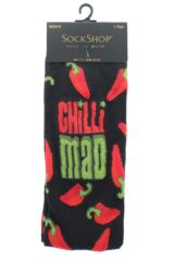Mens 1 Pair SockShop Bamboo Chilli Mad Socks Packaging Image