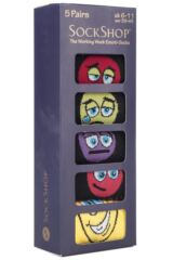 Mens 5 Pair SockShop Gift Boxed Working Week Emoti-Socks Packaging Image