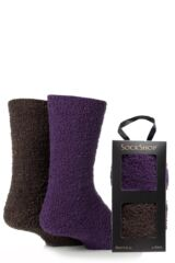 Mens 2 Pair SockShop Cosy Bed Socks