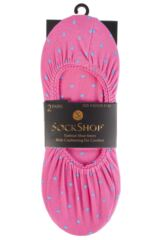 Ladies 2 Pair SockShop Printed Shoe Liners Product Shot