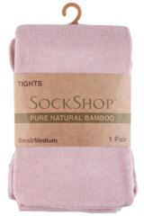 Ladies 1 Pair SockShop Plain Bamboo Tights with Smooth Toe Seams Packaging Image