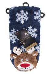 SockShop 1 Pair Plush Christmas Slipper Socks Packaging Image