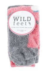 Ladies 2 Pair SockShop Wild Feet Seal Fluffy Cosy Socks Packaging Image