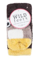 Ladies 2 Pair SockShop Wild Feet Owl Fluffy Cosy Socks Packaging Image