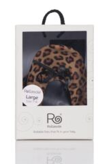 Ladies 1 Pair Rollasole Leopard Print Rollable After Party Shoes to Keep in Your Handbag Packaging Image