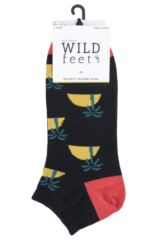 Mens 3 Pair SockShop Wild Feet Novelty Cotton Trainer Socks Packaging Image