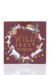 Mens 3 Pair SockShop Wild Feet Gift Boxed Stag Cotton Socks Packaging Image