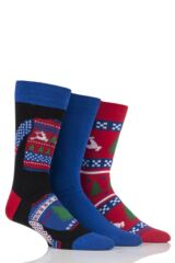Mens 3 Pair SockShop Just For Fun Christmas Jumper Novelty Cotton Socks