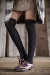 Ladies 2 Pair Elle Plain Bamboo Over The Knee Socks Leading Image