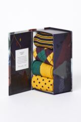 Mens 4 Pair Thought Funky Classic Bamboo and Organic Cotton Socks In Gift Box Leading Image