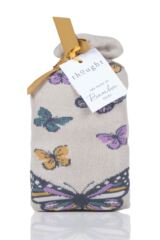Ladies 2 Pair Thought Butterfly Bamboo and Organic Cotton Gift Bag Socks Packaging Image
