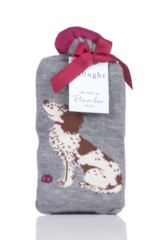 Ladies 2 Pair Thought Springer Dog Bamboo and Organic Cotton Socks Gift Bag Packaging Image