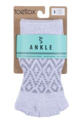 Ladies 1 Pair ToeSox Diamond Half Toe Ankle High Socks Packaging Image
