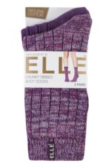 Ladies 2 Pair Elle Chunky Ribbed Boot Socks sale sale Packaging Image