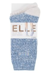Ladies 2 Pair Elle Velvet Soft Boot Socks sale sale Packaging Image