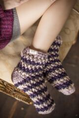 Ladies 1 Pair Elle Hand Knit Knotted Slipper Socks Leading Image