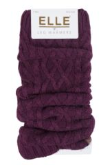 Ladies 1 Pair Elle Soft Cable Knit Legwarmer Packaging Image