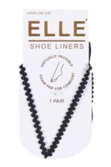Ladies 1 Pair Elle Foot Thong Shoe Liner With Pad Product Shot