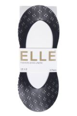 Ladies 3 Pair Elle Patterned Fishnet Shoe Liner Socks Packaging Image