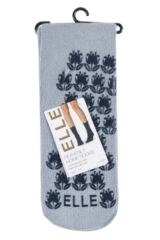 Ladies 1 Pair Elle Supersoft Home Socks with Non-Slip Sole Product Shot