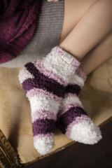 Ladies 2 Pair Elle Fluffy and Cosy Blissful Bed Time Socks Leading Image