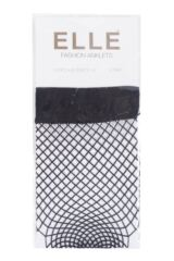 Ladies 2 Pair Elle Classic Fishnet Anklet Socks Packaging Image