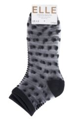 Ladies 2 Pair Elle Bamboo Sheer Stripe and Spot Anklet Socks Packaging Image