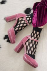 Ladies 1 Pair Elle Fishnet and Fashion Anklet Socks Leading Image