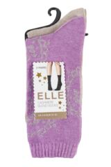 Ladies 2 Pair Elle Paisley Patterned Cashmere Blend Socks Packaging Image