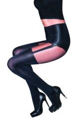 Ladies 1 Pair Pretty Polly Suspend your Disbelief Suspender Shaper Tights Leading Image