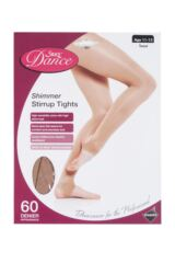 Girls 1 Pair Silky Dance Shimmer Stirrup Tights Packaging Image