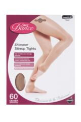 Ladies 1 Pair Silky Dance Shimmer Stirrup Tights Packaging Image