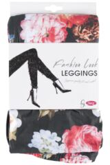 Ladies 1 Pair Silky Floral Patterned Everyday Leggings Product Shot