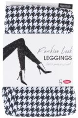 Ladies 1 Pair Silky Houndstooth Design Everyday Leggings Product Shot