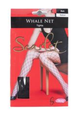 Ladies 1 Pair Silky Scarlet Whale Net Tights Packaging Image