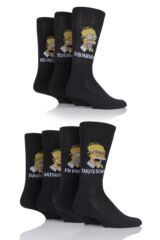 Mens 7 Pair TM The Simpsons Days of the Week Homer Cushioned Sole Socks