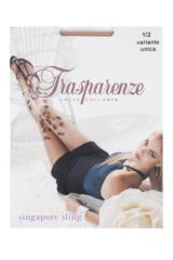 Ladies 1 Pair Trasparenze Singapore Sling Flower and Butterfly Sheer Tights Product Shot